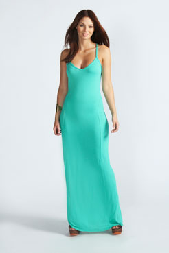 Lucy Strappy Cross Over Back Maxi Dress at boohoo.com