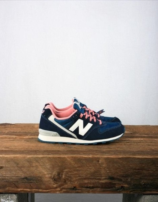 shoes blue white girl new balance dark blue pink baby pink trainers pick colorful