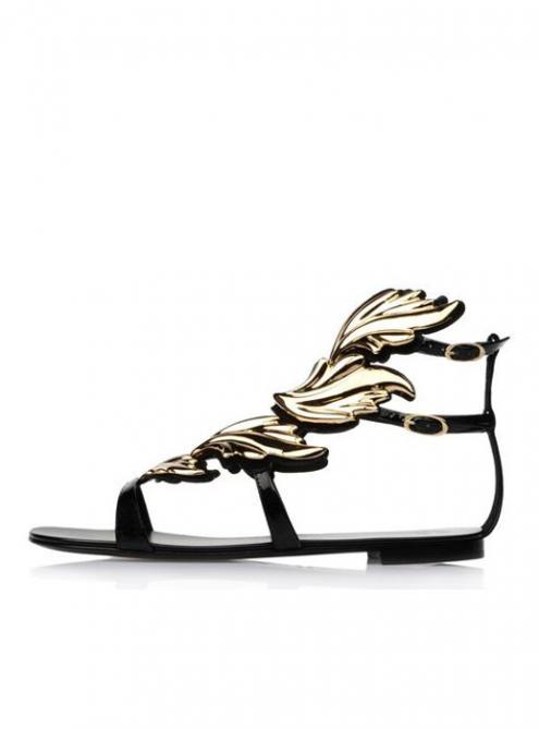 Gold Leaf Sandals$73