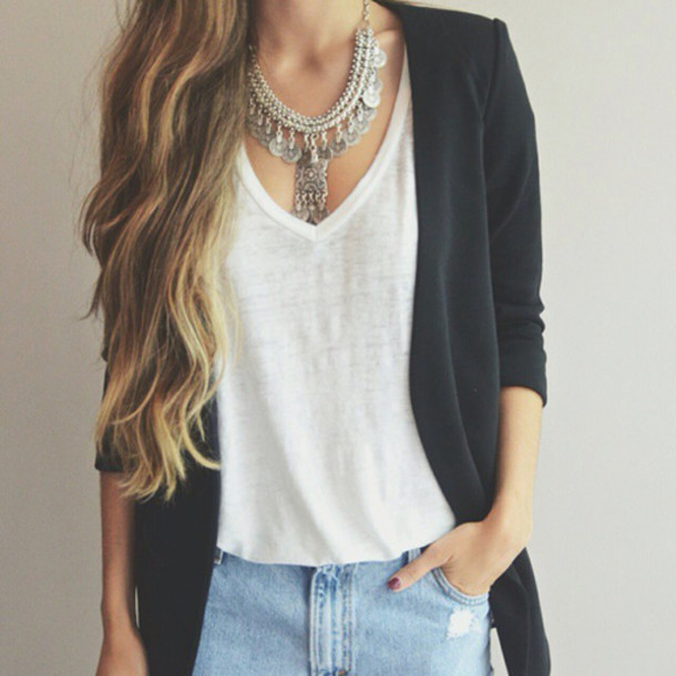 jewels necklace tumblr outfit wheretofindit wheretofindthisnecklace cardigan