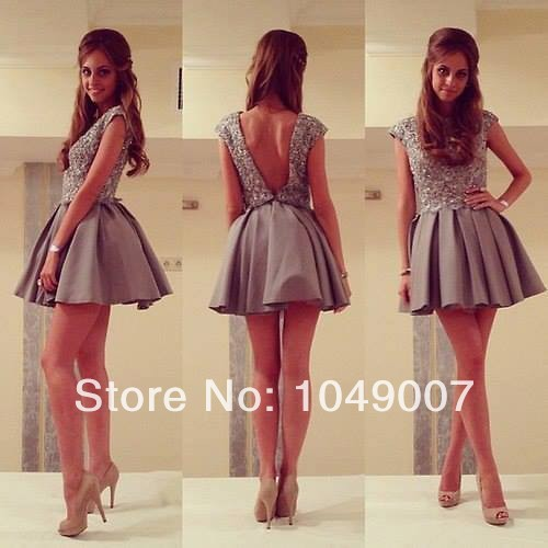 Sexy Cap Sleeves Beaded Lace Short Homecoming Dresses 8th grade graduation dresses 2014-in Homecoming Dresses from Apparel & Accessories on Aliexpress.com