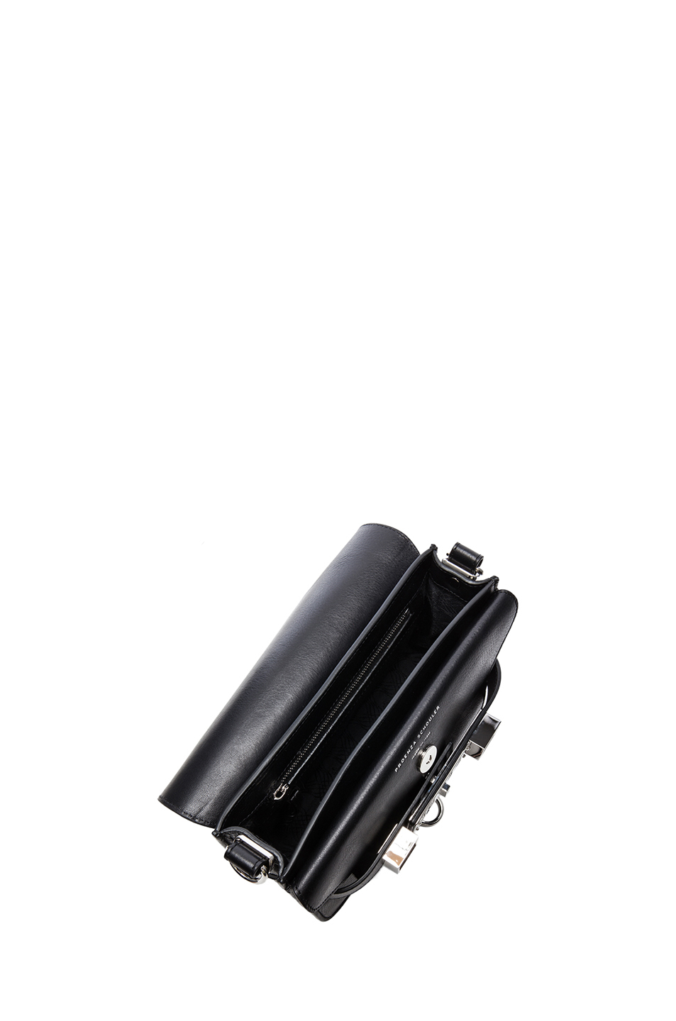 Proenza Schouler Mini PS11 Classic Smooth Leather Shoulder Bag in Black