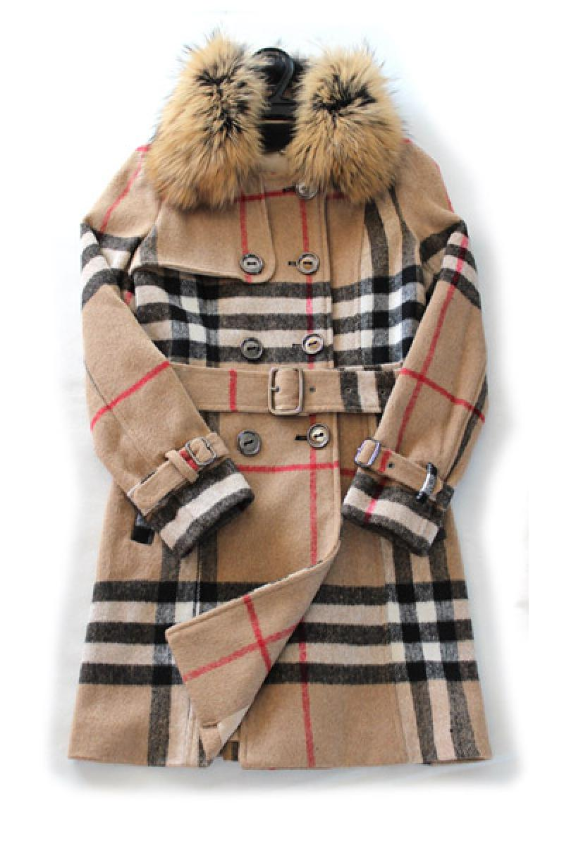2013 Autumn & Winter New Section Fur Collar Double Breasted Woolen Overcoat,Cheap in Wendybox.com