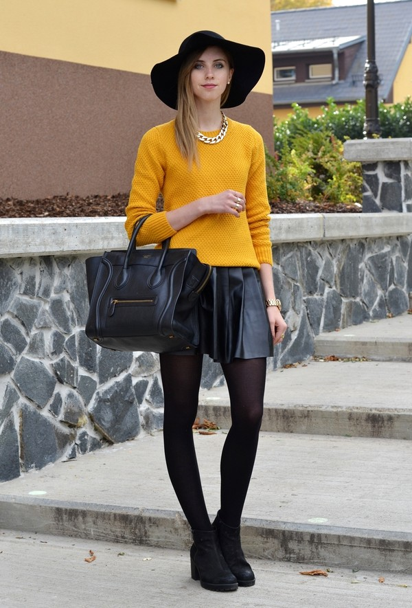 vogue haus sweater skirt shoes hat bag jewels