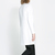 White V Neck Long Sleeve Boyfriend Coat - Sheinside.com