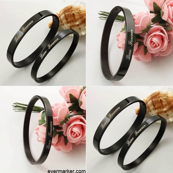 jewels black i love you forever and always ring
