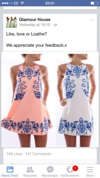 dress jean jail blue and white dresss