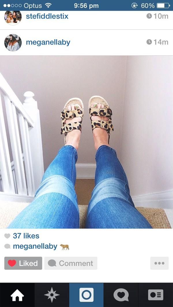 shoes birkenstocks leopard print jeans sandals