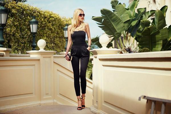meri wild jumpsuit bag sunglasses jewels shoes make-up