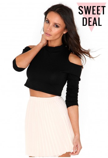 Sharsei Value Cut Out Shoulder Crop Top - Tops - Missguided