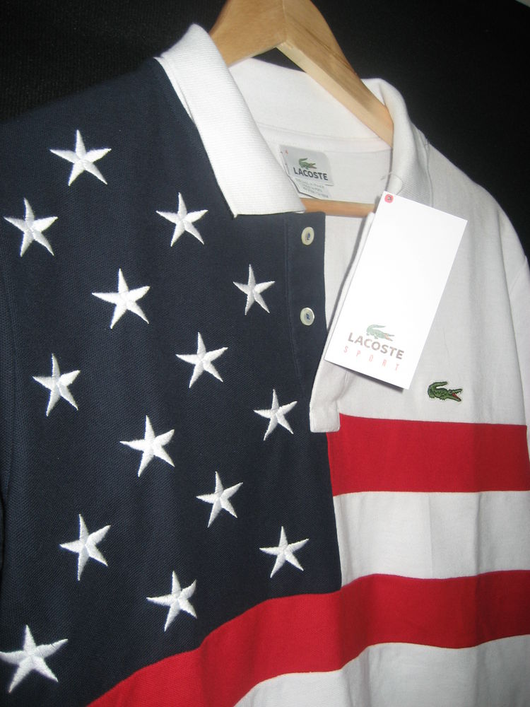 USA Flag Lacoste Olympic Games Collection Polo Medium Large and x Large | eBay