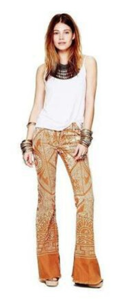 pants free people orange