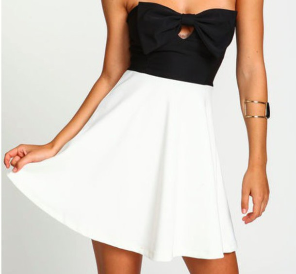 dress black and white cut-out online
