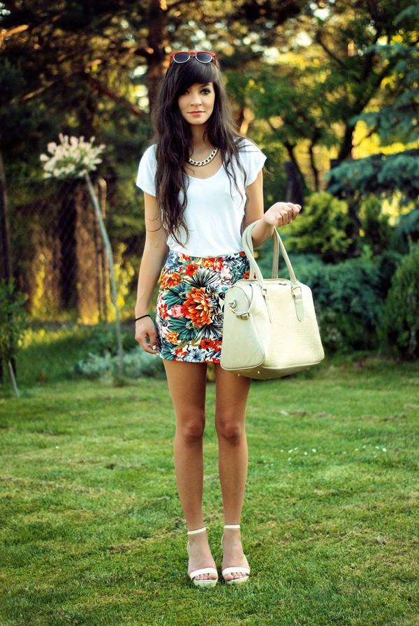 i am sony skirt shirt bag jewels
