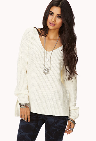 Favorite V-Neck Sweater | FOREVER21 - 2000110768