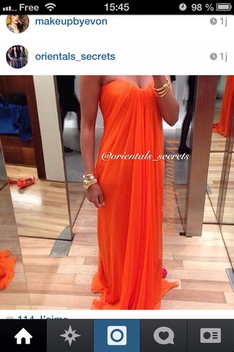dress orange dress colorblock maxi maxi dress