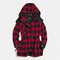 Wool houndstooth parka