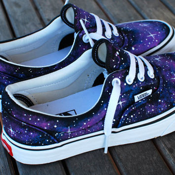 Custom Galaxy Vans Era shoes on Wanelo
