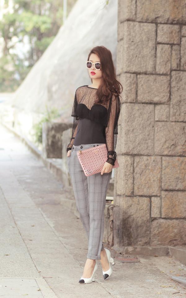 mellow mayo sunglasses t-shirt pants bag shoes dress