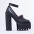 Jeffrey Campbell Scully in Black Black at Solestruck.com