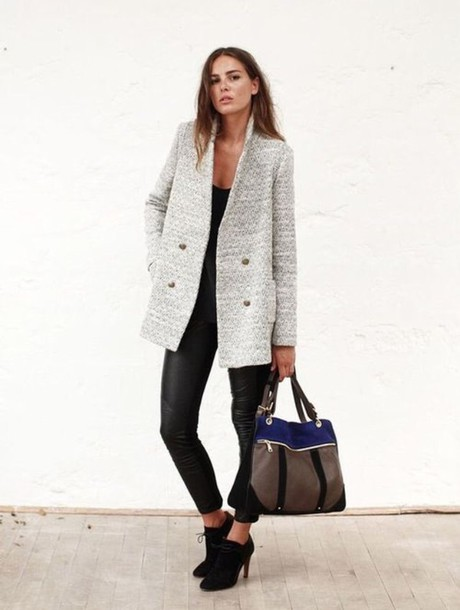 coat grey coat winter coat wool grey