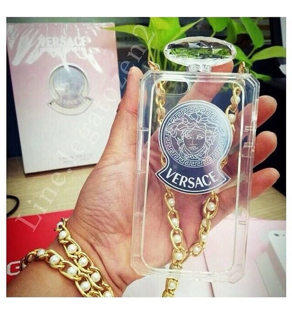 phone cover versace phone cover classy pearl clear versace make-up