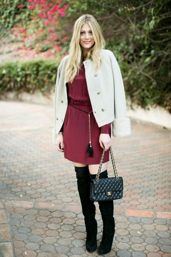 devon rachel sweater dress bag shoes
