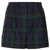 Green Check Wool Shorts - Topshop