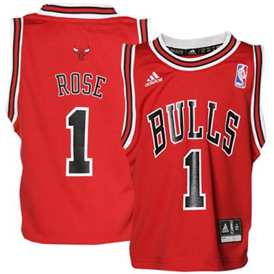 Fanatics.com: adidas Chicago Bulls #1 Derrick Rose Toddler Revolution 30 Basketball Jersey-Red