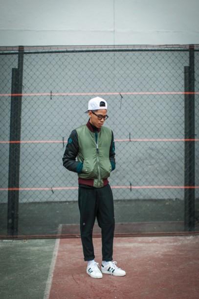 closet freaks blogger urban menswear bomber jacket mens pants nike sneakers