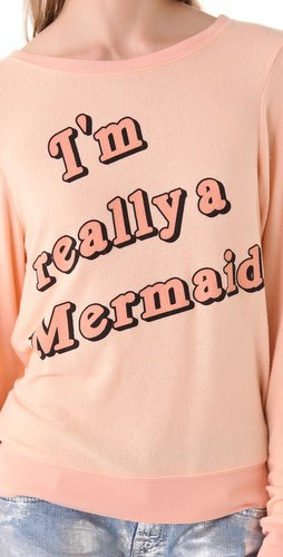 Wildfox I'm Really a Mermaid Sweatshirt | SHOPBOP on Wanelo