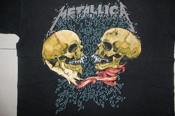 Vintage Vtg Metallica Pushead Metal Hardcore Sad But True Pushead Tour Concer te - Unisex & T-Shirts