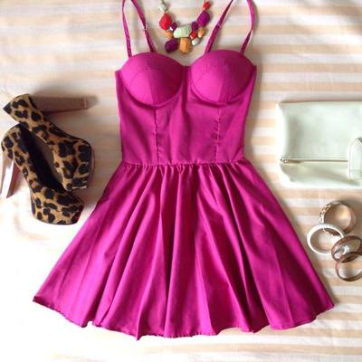 DARK PINK UNIQUE FLIRTY BUSTIER DRESS · Humbly Glam · Online Store Powered by Storenvy