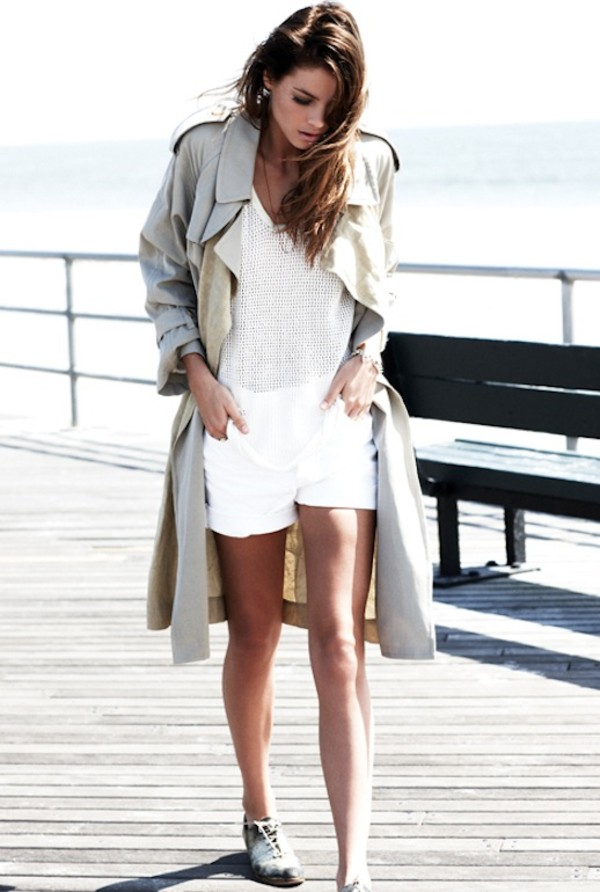 le fashion image coat jacket t-shirt shorts