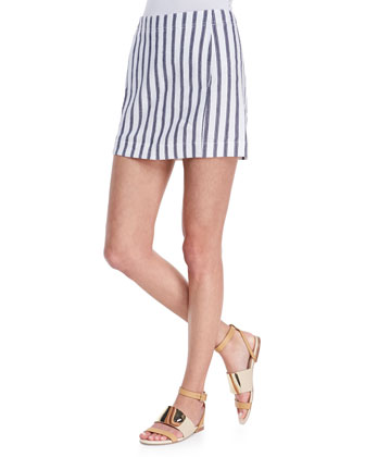 Theory Chonos Striped Casual Skirt