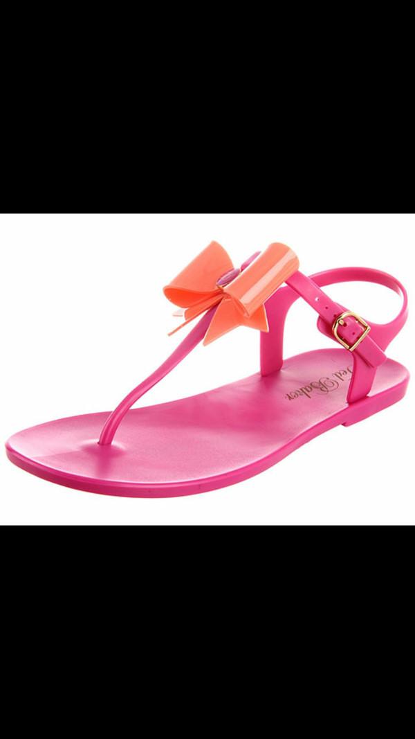 shoes bows pink sandals