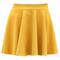 Women's lady's candy color waist pleated jersey skater flared mini skirts b75u | ebay