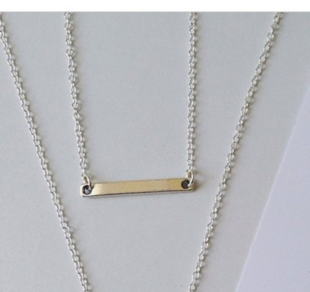 jewels necklace kardashians jewelry bar necklace silver silver necklace