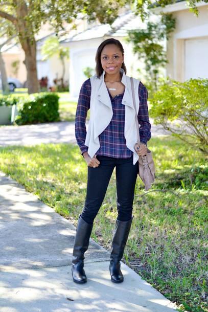 cha cha the fashion genius blogger shirt jacket jeans shoes bag jewels