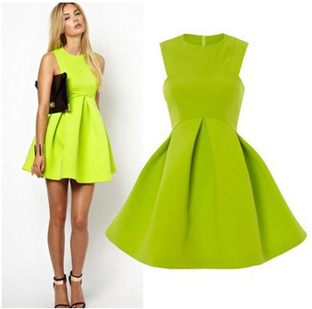 high quality new 2014 spring fashion casual colorful romantic floral print summer dress brand new plus size women-in Dresses from Apparel & Accessories on Aliexpress.com