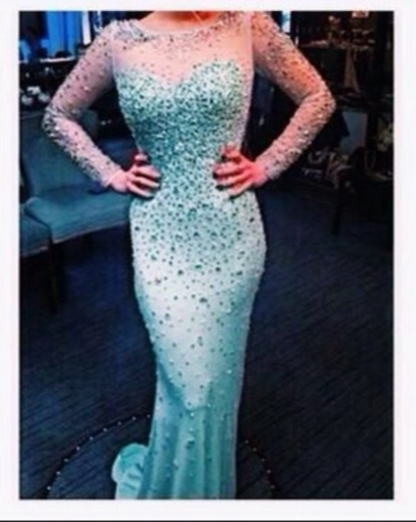dress blue dress elsa frozen prom dress