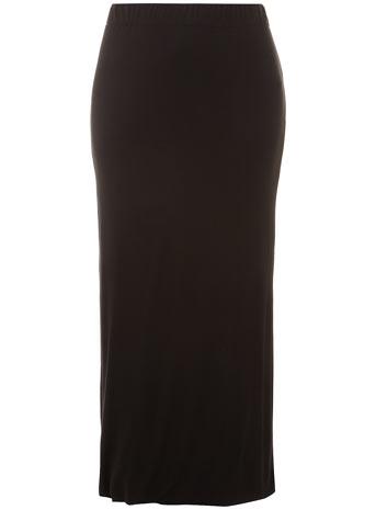 Evans Black Tube Maxi Skirt - Work Wear - Clothing - Evans