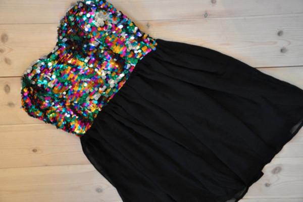dress sparkle glitter bandeau