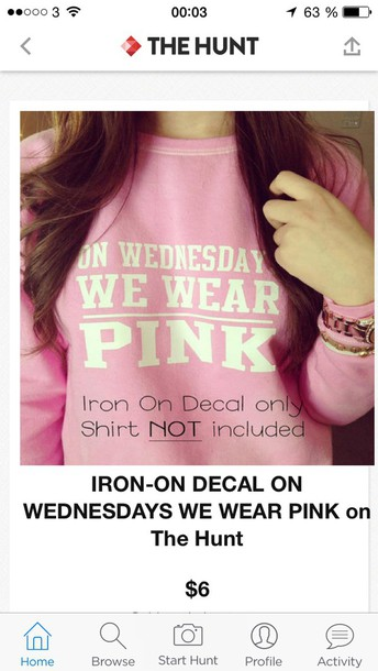 sweater on wensday we wear pink