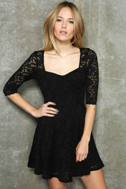 dress blace lace dress fashion style your own style