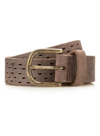 CHOCOLATE LASERCUT LEATHER BELT - TOPMAN