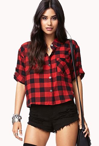 Cool Girl Checkered Shirt | FOREVER21 - 2059903319