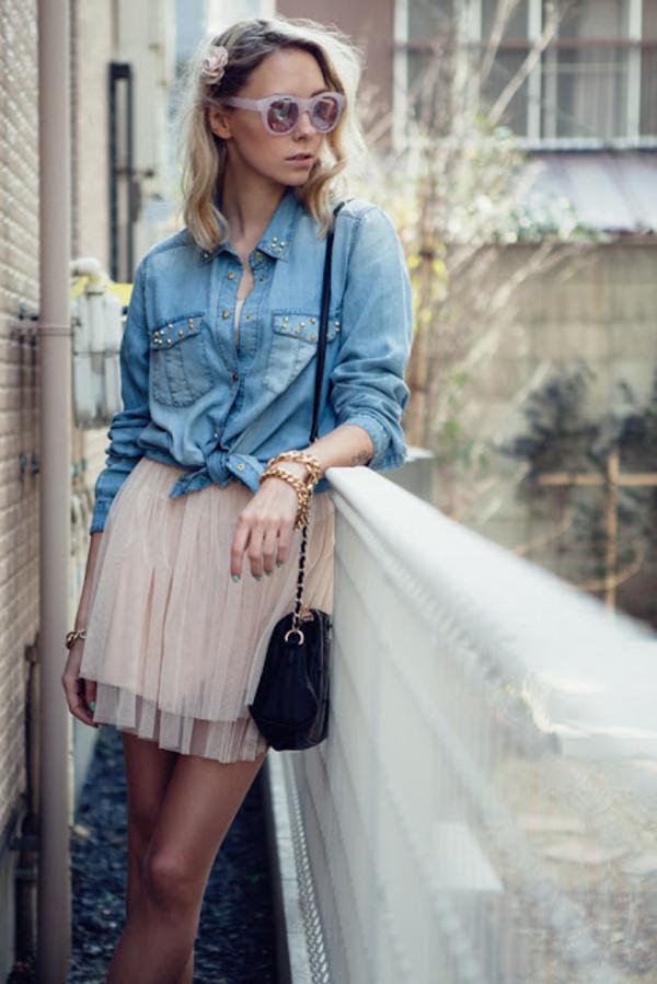 martina m dress shirt bag jewels