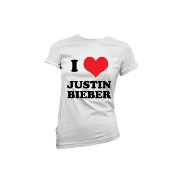 I Love Justin Bieber - Ladies T shirt - Dressdown: Amazon.co... - Polyvore