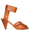 Mavis cone-heel leather sandals